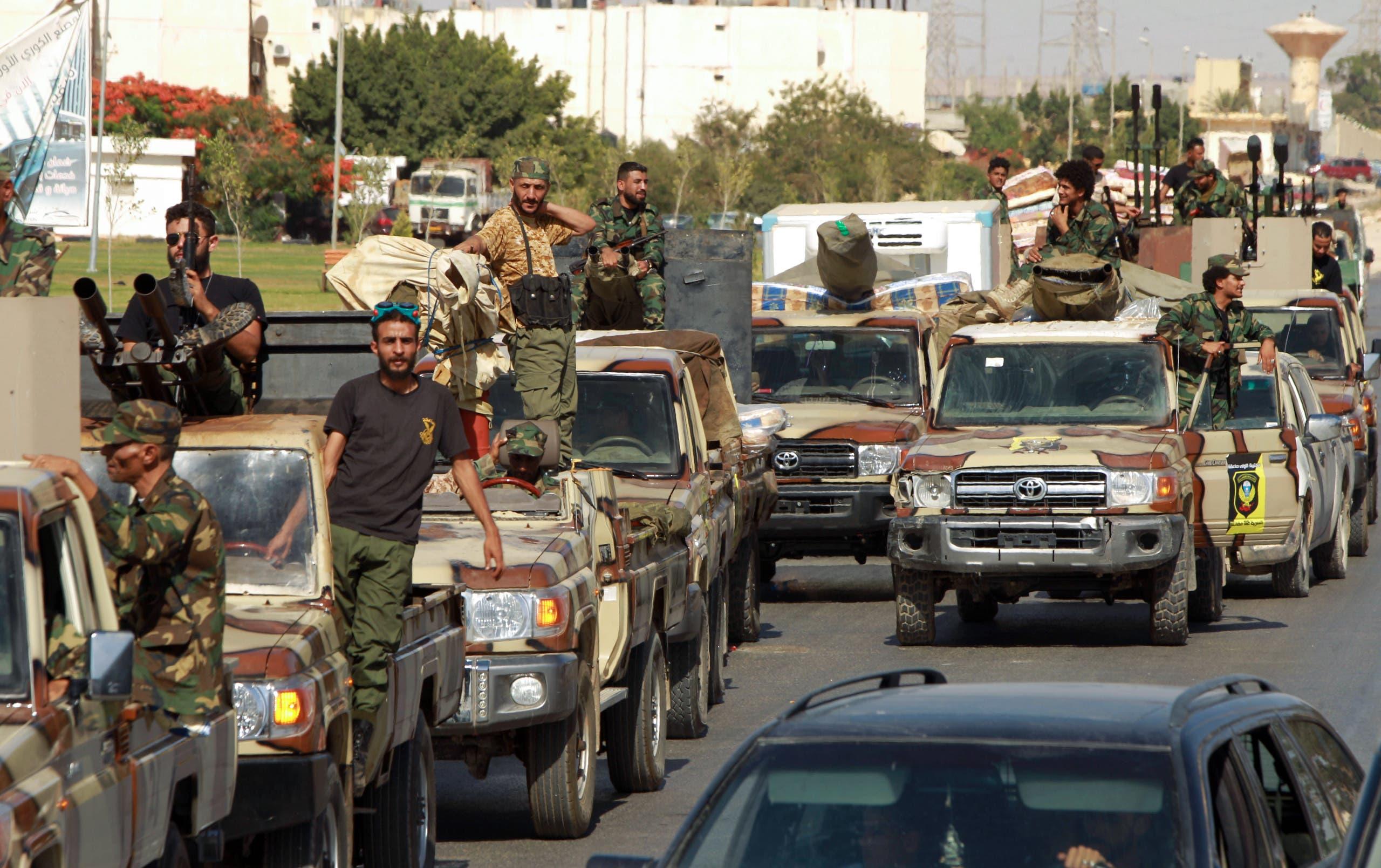 عناصر من الجيش الوطني الليبي في بنغازي(أرشيفية- فرانس برس9