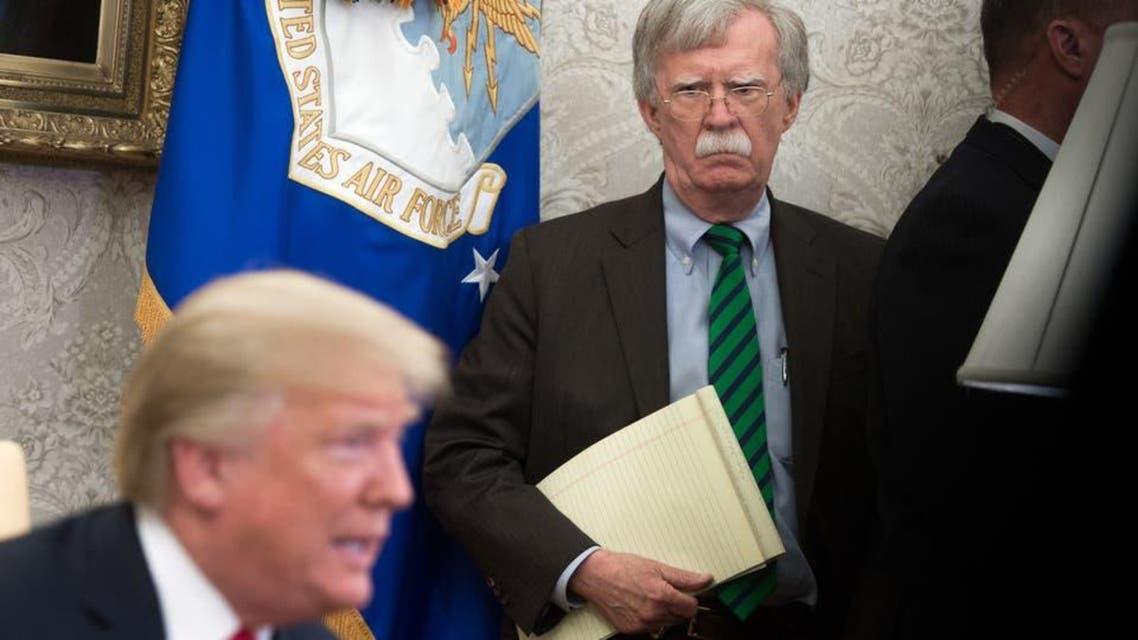 John Bolton and Donald Trump
