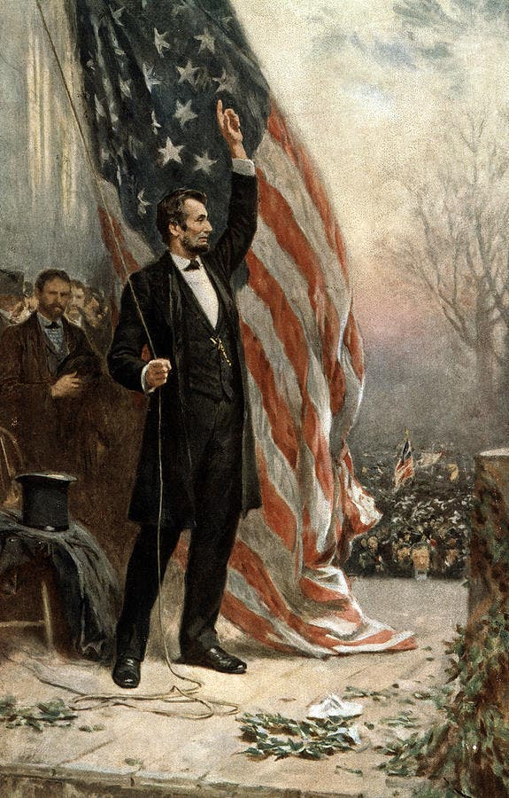 لوحة تجسد الرئيس الأميركي ابراهام لينكولن