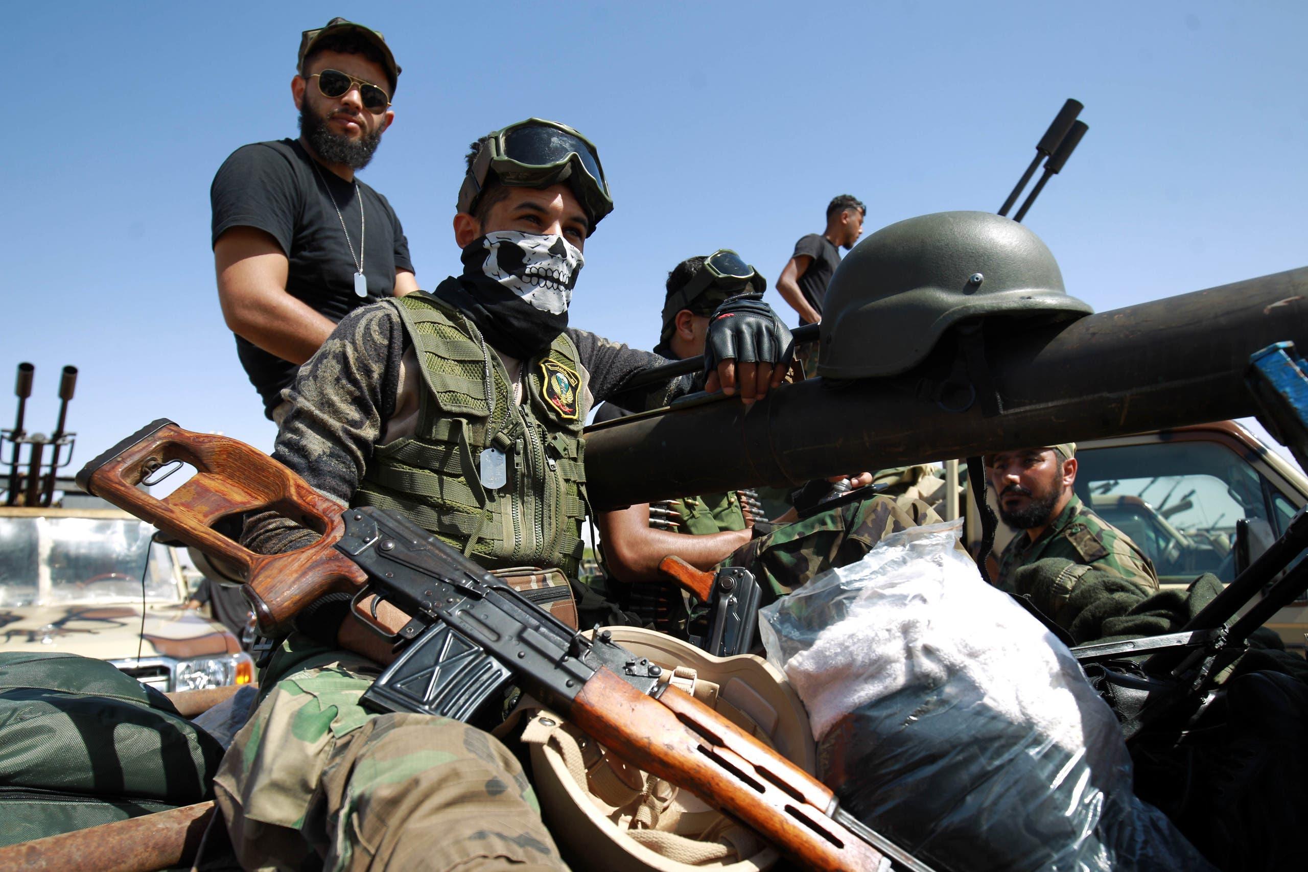 عناصر من الجيش الوطني الليبي في بنغازي(أرشيفية- فرانس برس)