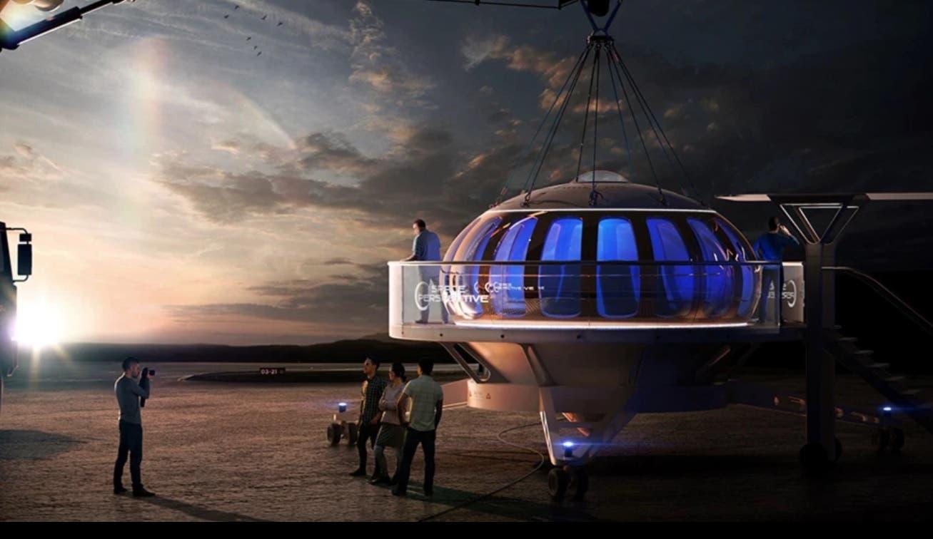 منصة متصلة بالمنطاد الحامل للمسافرين إلى الفضاء