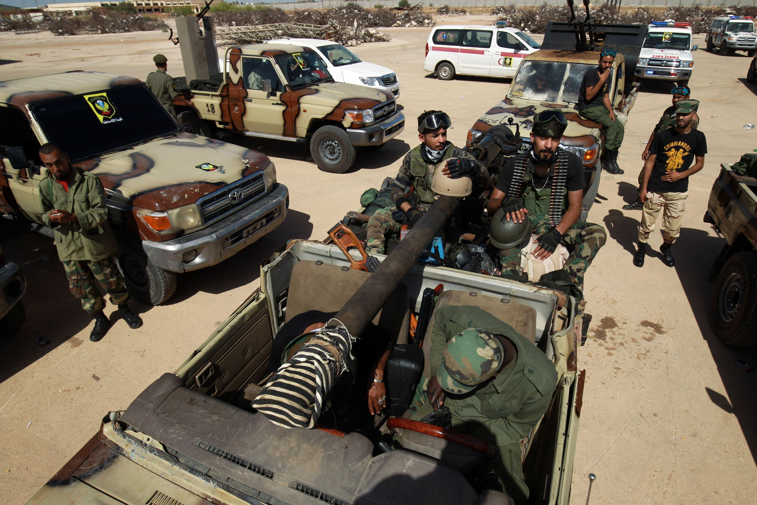 عناصر من الجيش الوطني الليبي(أرشيفية- فرانس برس)