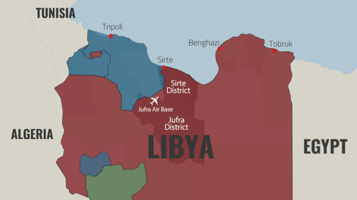 Libya map infographic 22/06/2020
