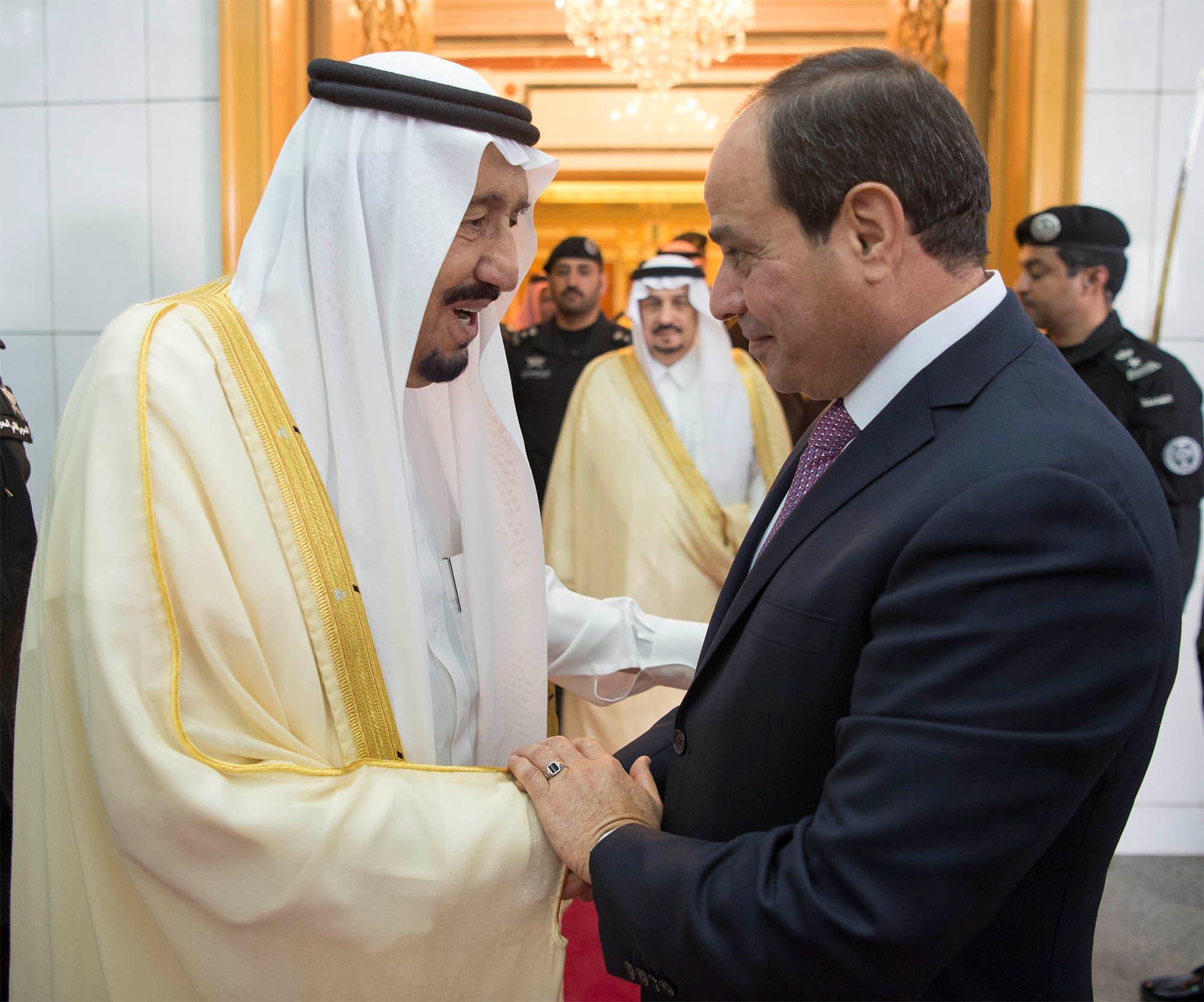 Saudi Arabia's King Salman bin Abdulaziz Al Saud (L) shakes hands with Egypt's President Abdel Fattah al-Sisi in Riyadh, Saudi Arabia April 23, 2017. (File photo: Reuters)