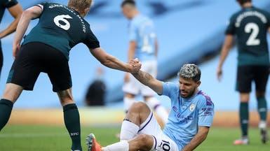 أغويرو يسافر إلى برشلونة للكشف على إصابته