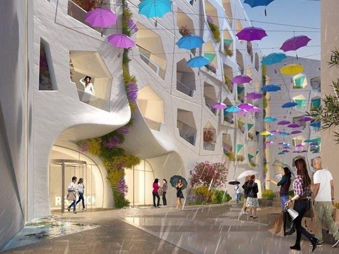دبي تشيد شارعاً للأمطار والثلوج الصناعية