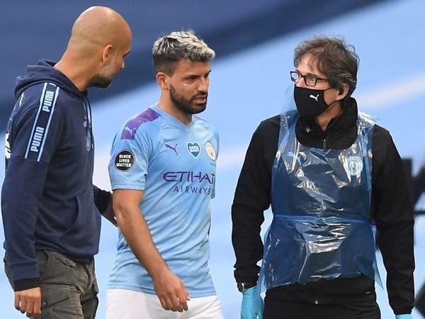 إصابة أغويرو تثير قلق مدربه غوارديولا