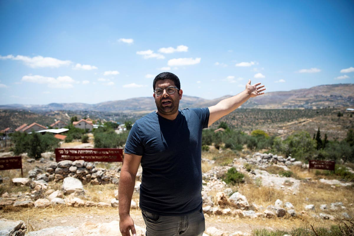 Hananel Elkayam, mayor of Itamar, gestures during his interview with Reuters in Itamar a Jewish settlement near Nablus in the Israeli-occupied West Bank June 15, 2020. (Reuters)