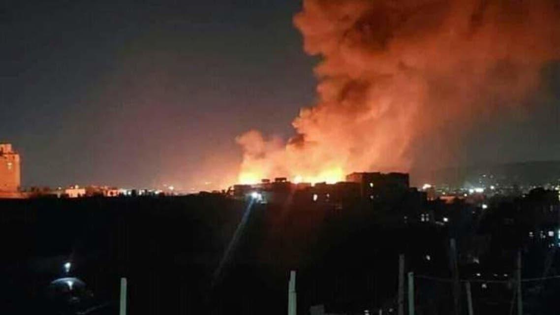 حريق صنعاء
