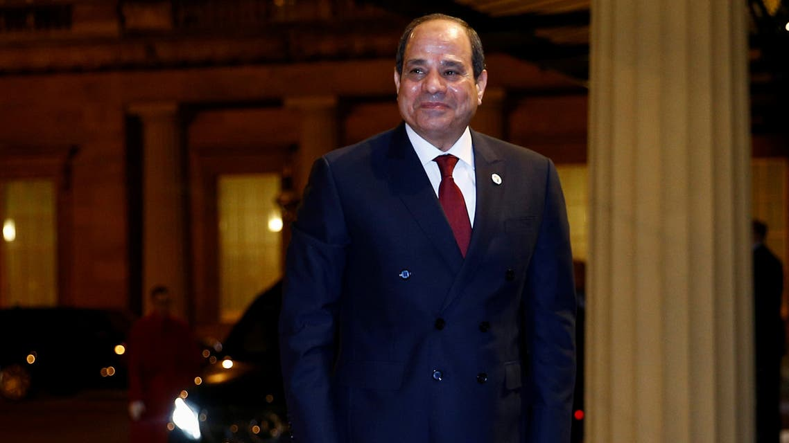 Egypt's President Abdel Fattah al-Sisi arrives at Buckingham Palace in London, Britain January 20, 2020. REUTERS/Henry Nicholls/Pool