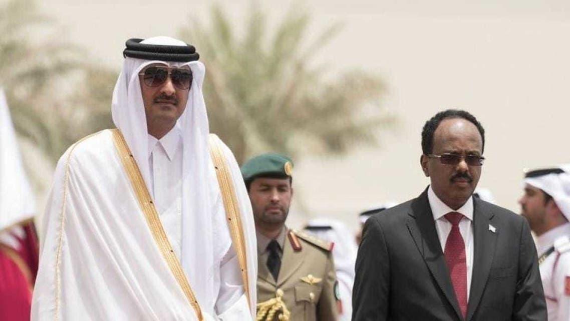 رئيس الصومال وأمير قطر