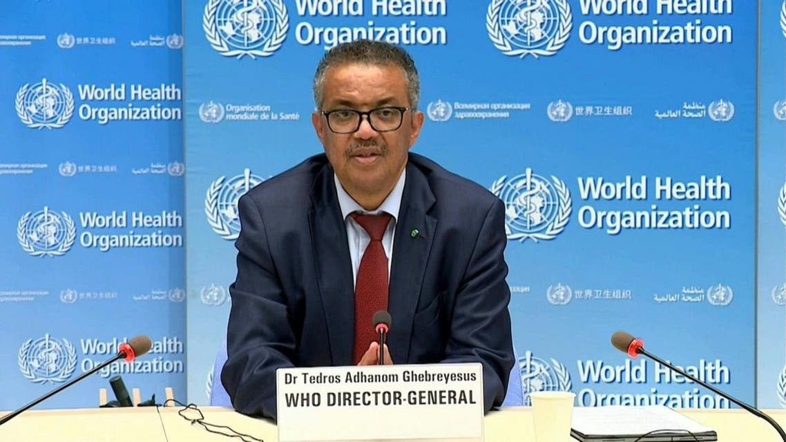 A screengrab of WHO chief during a virtual press conference on June 24, 2020. (AFP)