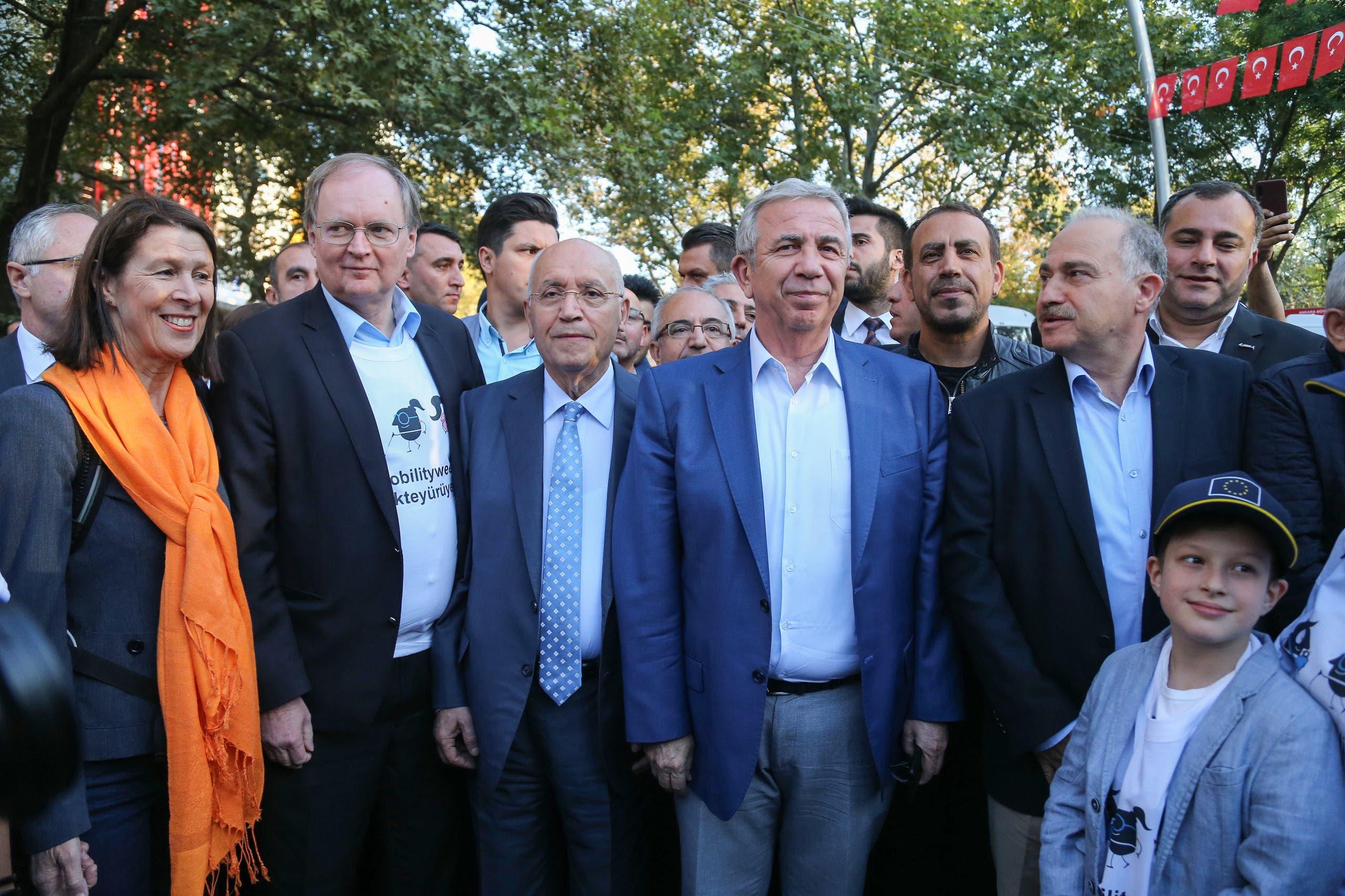 منصور يافاس رئيس بلدية أنقرة (فرانس برس)