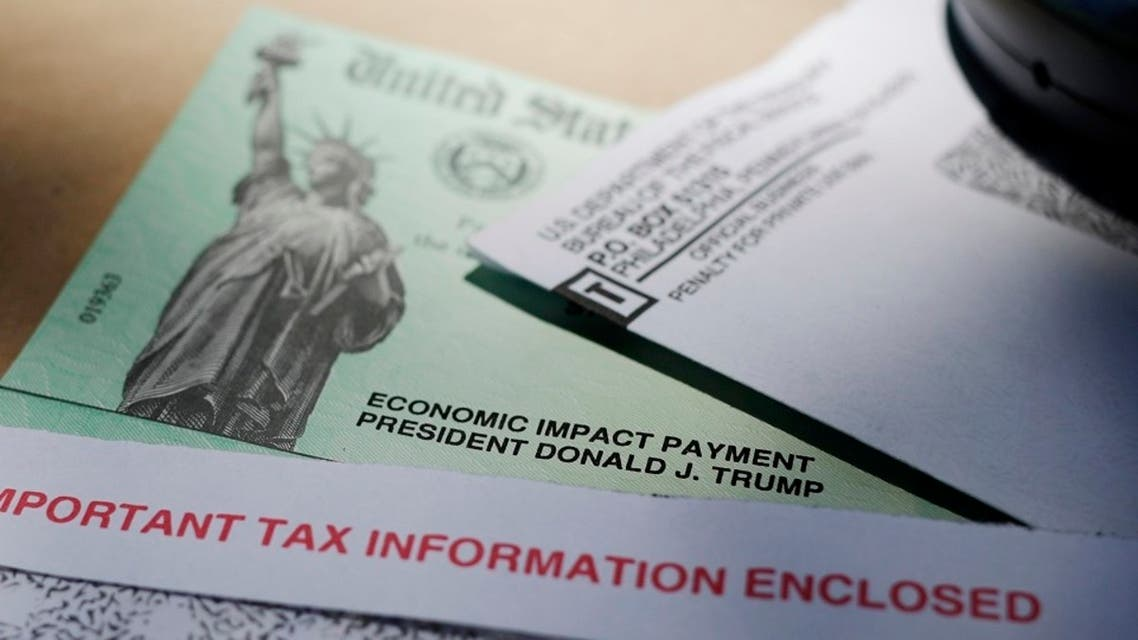 President Donald Trump's name is seen on a stimulus check issued by the IRS to help combat the adverse economic effects of the COVID-19 outbreak. (File photo: AP)