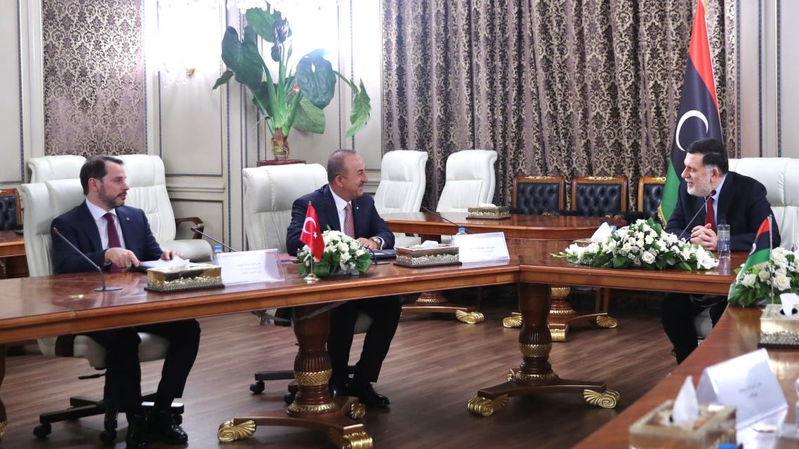 Turkish President Tayyip Erdogan and Libya's Fayez al-Serraj meet in Ankara, Turkey, June 4, 2020. (File Photo: Reuters)