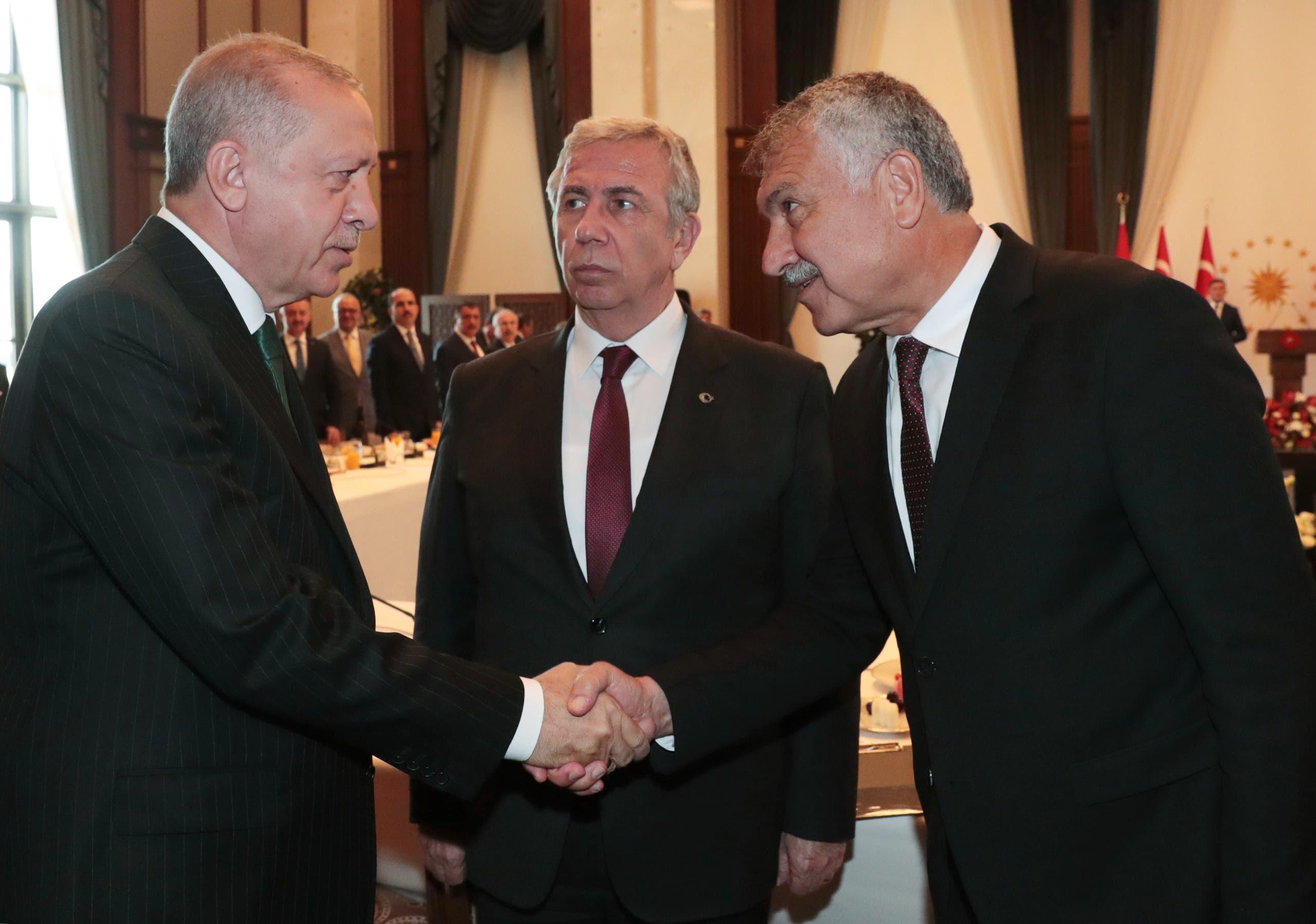 منصور يافاس رئيس بلدية أنقرة في الوسط (فرانس برس)