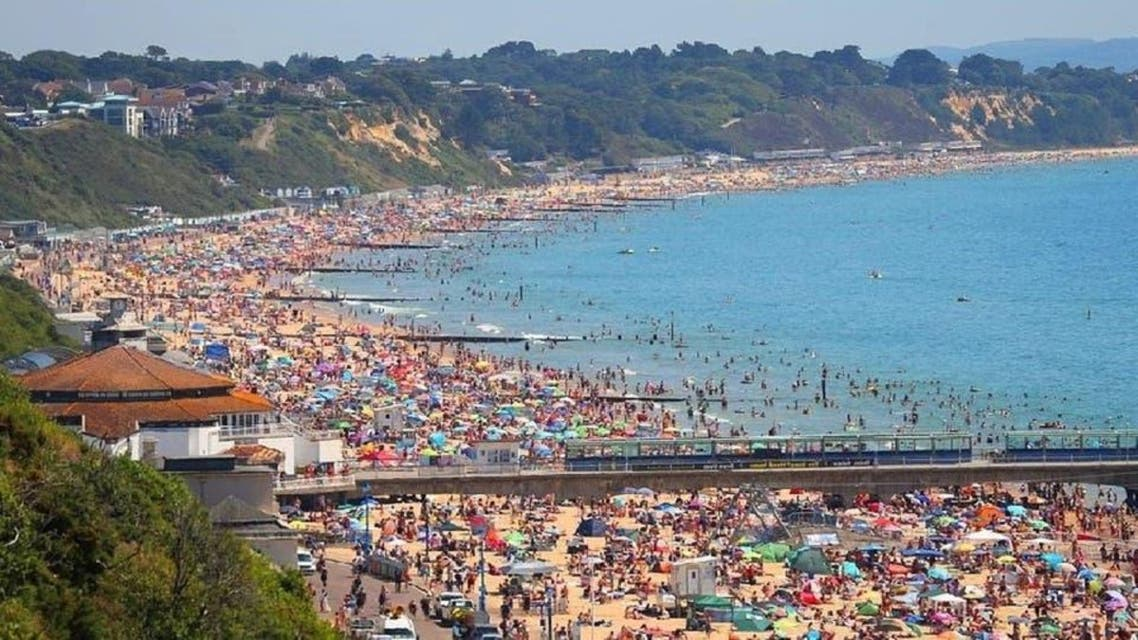 A popular beach town on England's southern coast has declared a 'major incident,' after crowds flocked to the beach and ignored public health advice