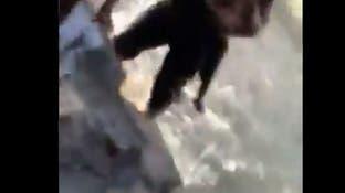 فيديو مرعب.. يعلم طفلته السباحة فباغتته غارة تركية