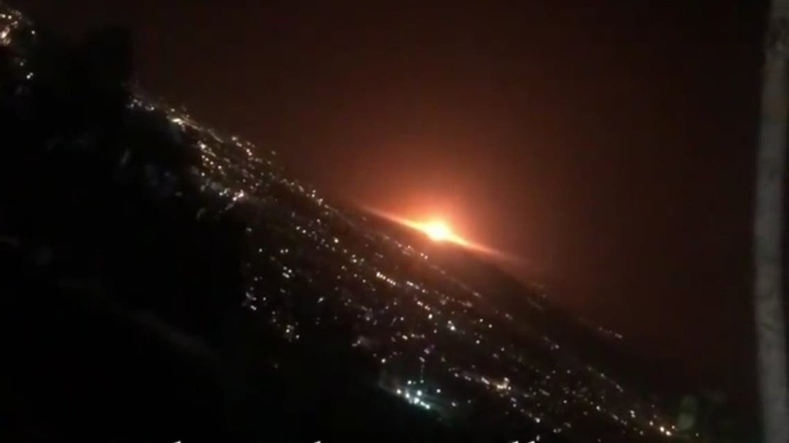 "A ""loud sound"" was ""clearly"" heard in several parts of Tehran and a ""big orange light"" was seen in the sky. (Twitter/@Vahid)"