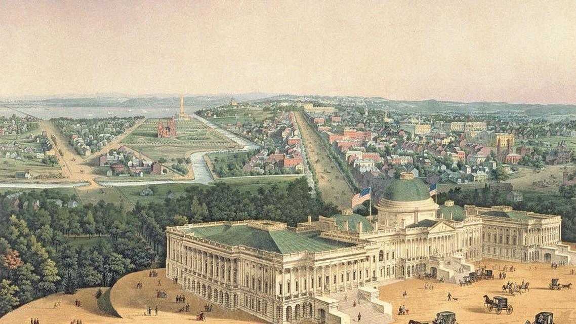 لوحة قديمة تجسد العاصمة واشنطن