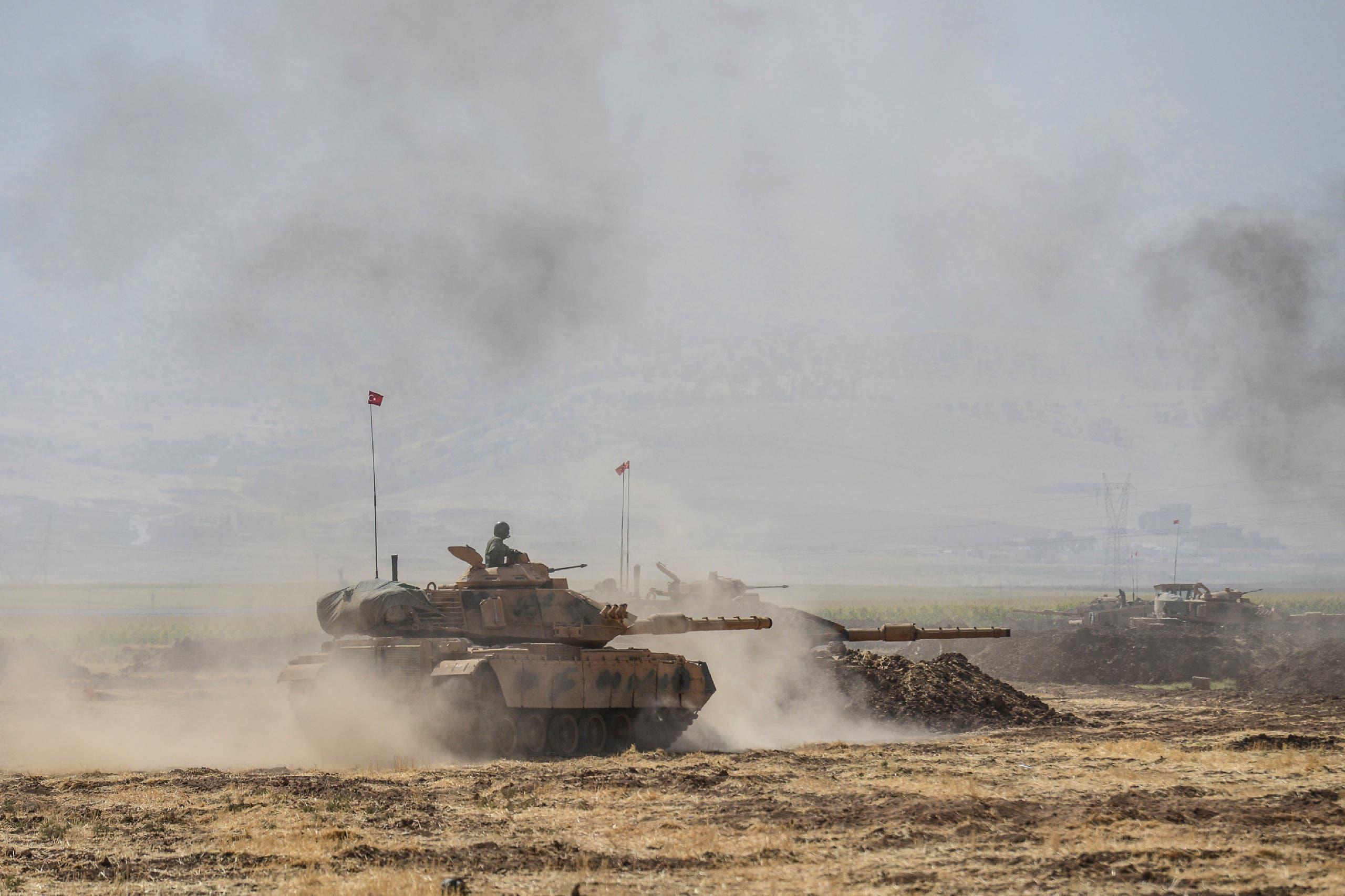 تمرینات نظامی ترکیه در مرز عراق و ترکیه (بایگانی - فرانسه پرس)