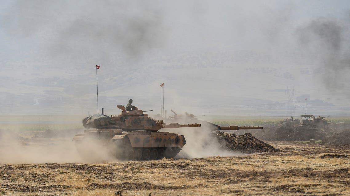 تدريبات عسكرية تركية على الحدود العراقية التركية )أرشيفية- فرانس برس)