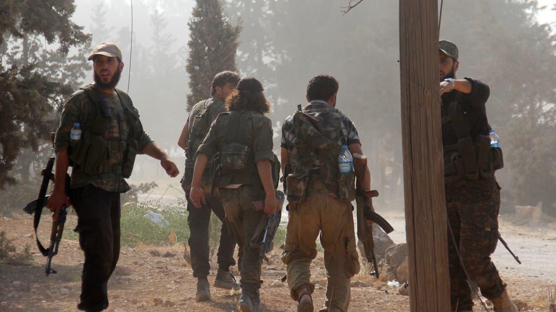 مقاتلون من جبهة النصرة شمال سوريا (فرانس برس)