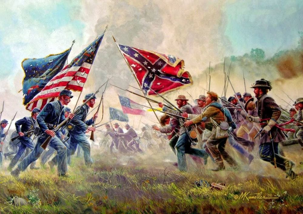 صورة لإحدى المعارك بالحرب الأهلية الأميركية