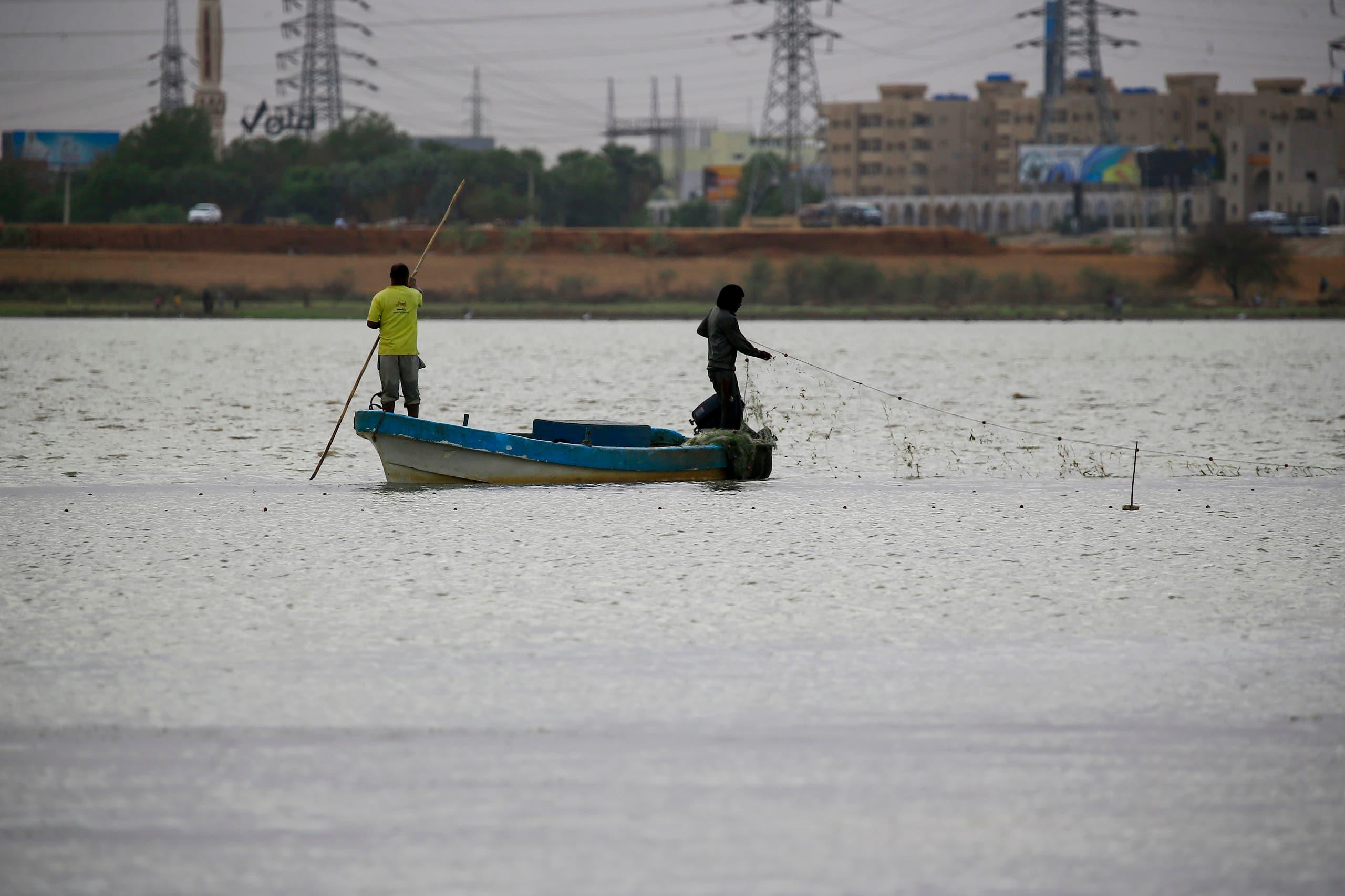 من الخرطوم.. مركب صيد في نهر النيل (أرشيفية- فرانس برس)