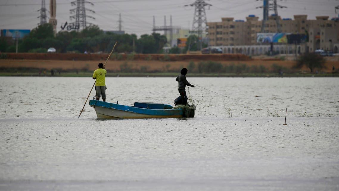 من الخرطوم.. مركي صيد في نهر النيل (أرشيفية- فرانس برس)