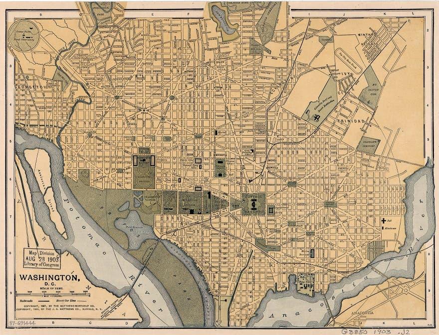 خريطة واشنطن دي سي عام 1897