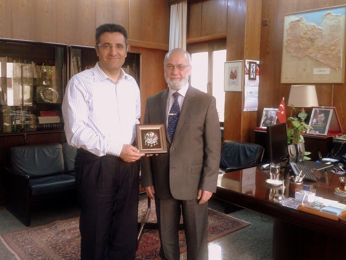 """عدنان تانفردي مدير شركة السادات في ضيافة السفير التركي السابق في طرابلس """"ارشيفية"""""""