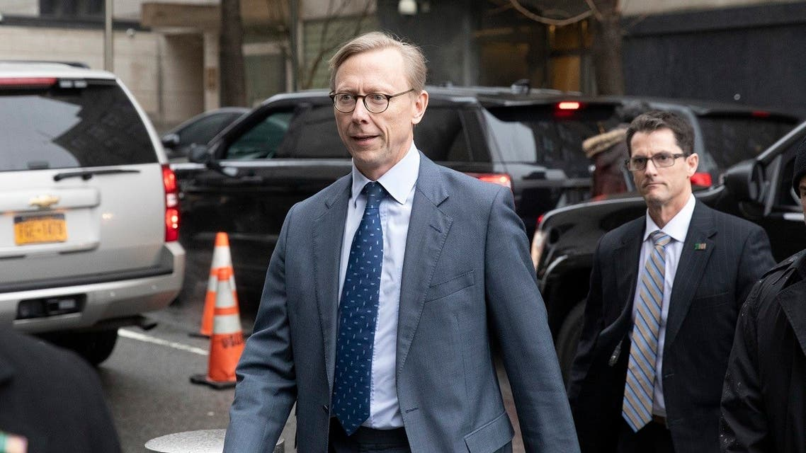 Brian Hook, the U.S. envoy to Iran, arrives at the U.S. mission to the United Nations . (AP)