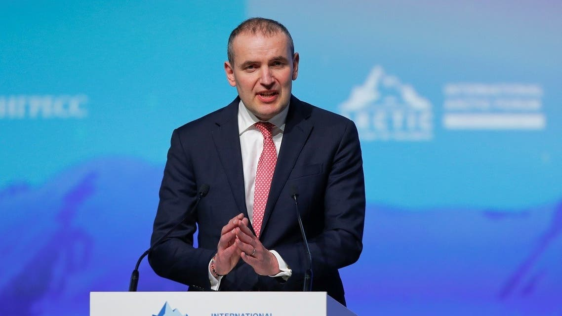 Iceland's President Johannesson attends the International Arctic Forum in Saint Petersburg. (File photo: Reuters)