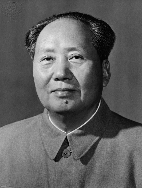 صورة للرئيس الصيني ماو تسي تونغ