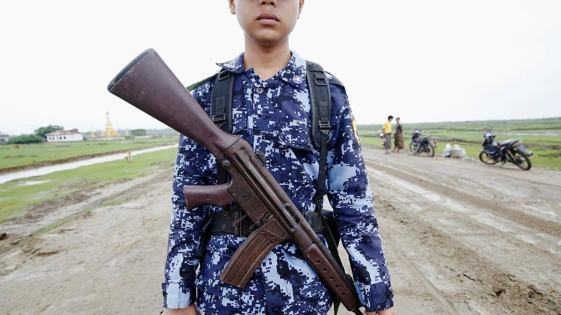 Myanmar police officer poses for a photograph in Maungdaw, Rakhine. (File photo: Reuters)