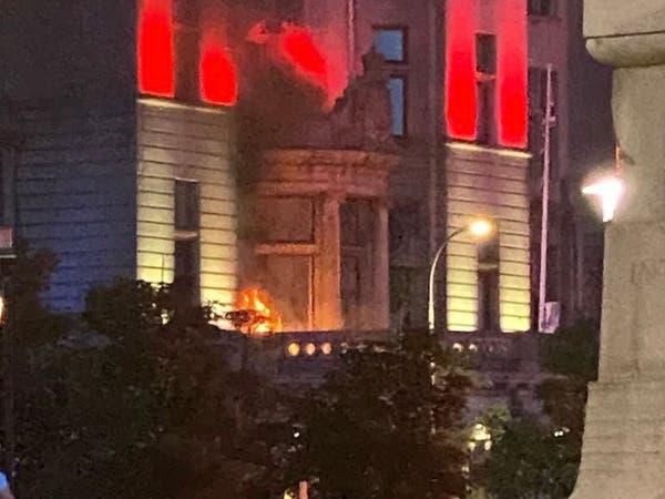 اعتقال بعض جماهير ليفربول بسبب حريق خلال الاحتفالات