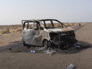 فيديو.. احتراق حافلة ركاب في اليمن بسبب عبوة حوثية