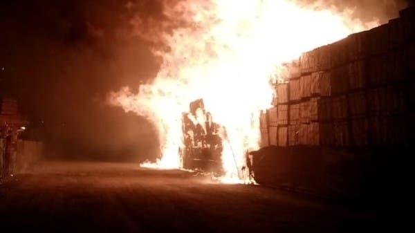 الموانئ الكويتية: اندلاع حريق غربي ميناء عبدالله