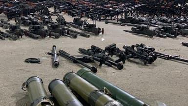 بالصور.. أسلحة قادمة من إيران ضبطها التحالف ببحر العرب