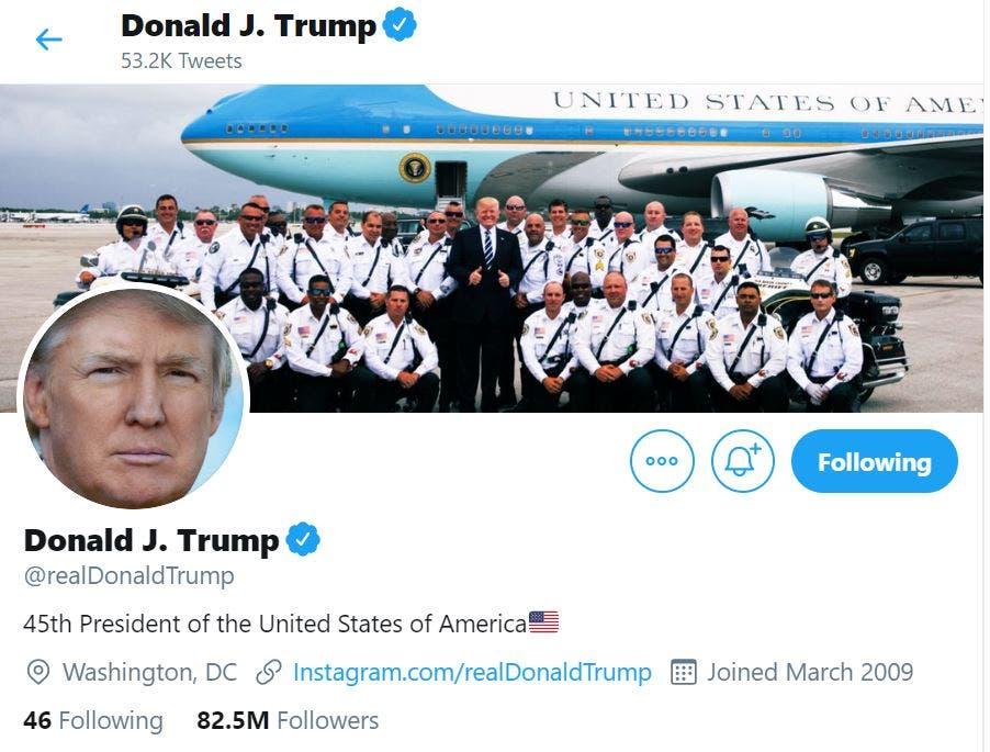 حساب ترمب على تويتر