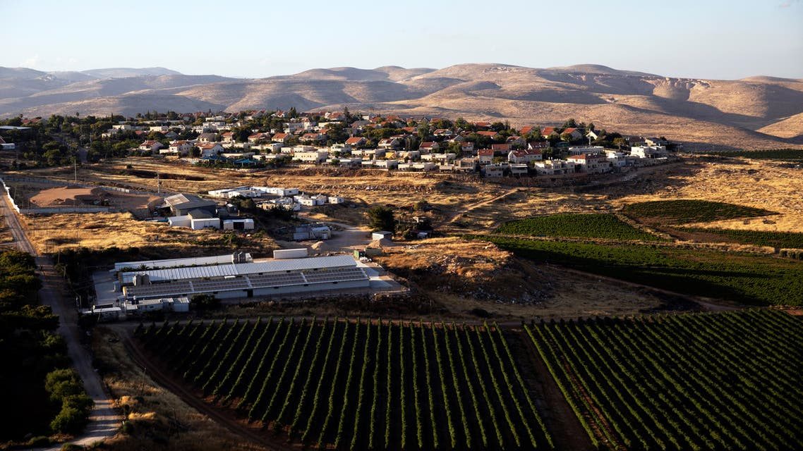 An aerial view shows the Jewish settlement of Kochav Hashachar in the Israeli-occupied West Bank June 23, 2020. Picture taken with a drone. REUTERS/Ilan Rosenberg
