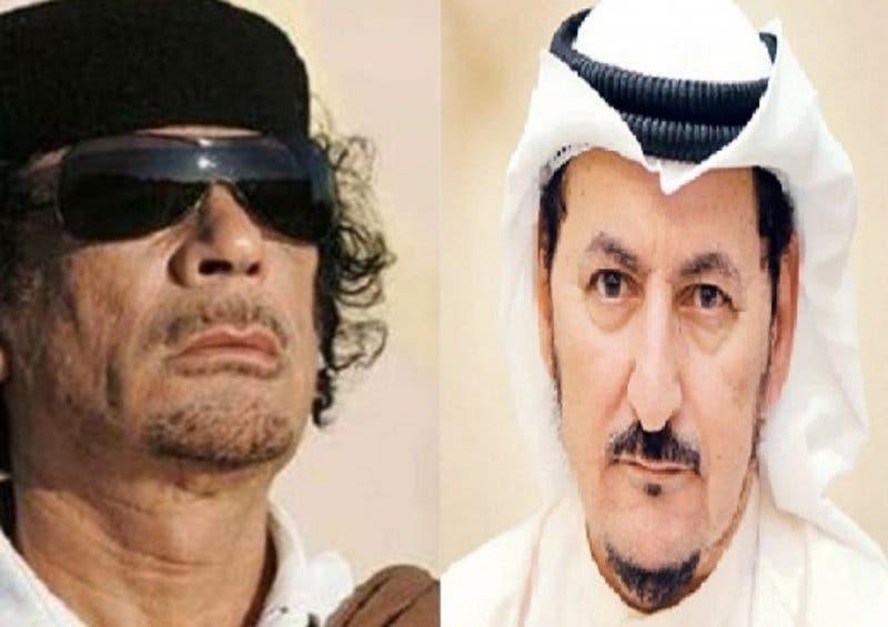 مبارك الدويلة ومعمر القذافي