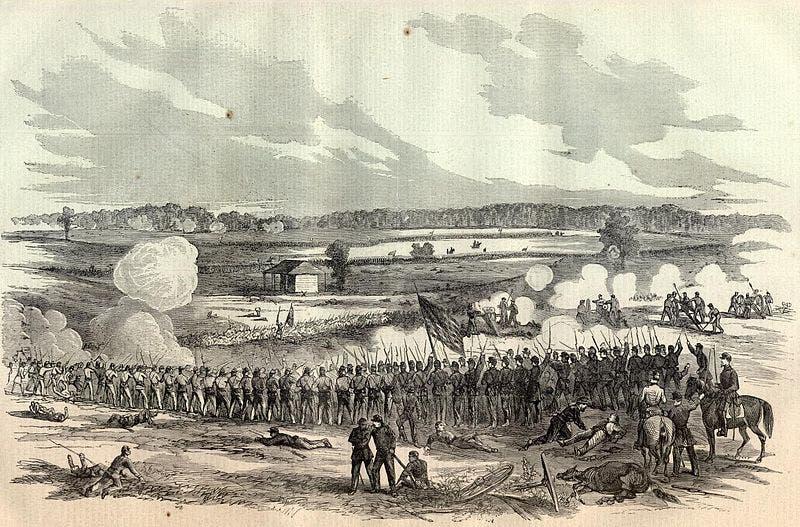 لوحة تجسد معركة بيريفيل