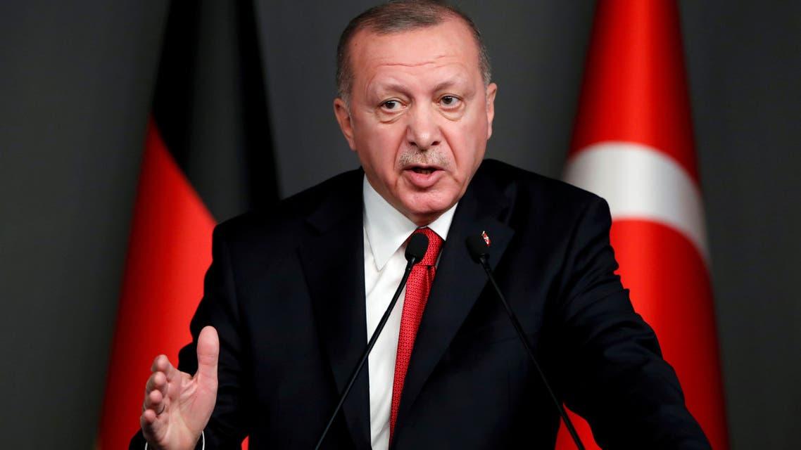الرئيس التركي رجب طيب أردوغان(أرشيفية- رويترز)