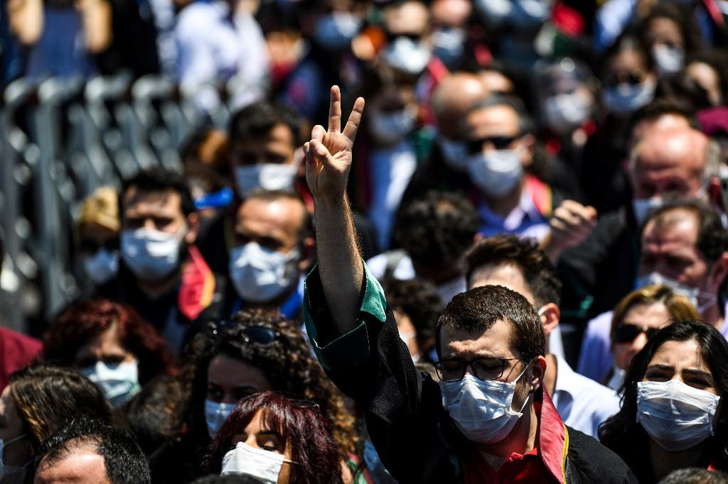 احتجاجات المحامين في إسطنبول 30 يونيو - فرانس برس