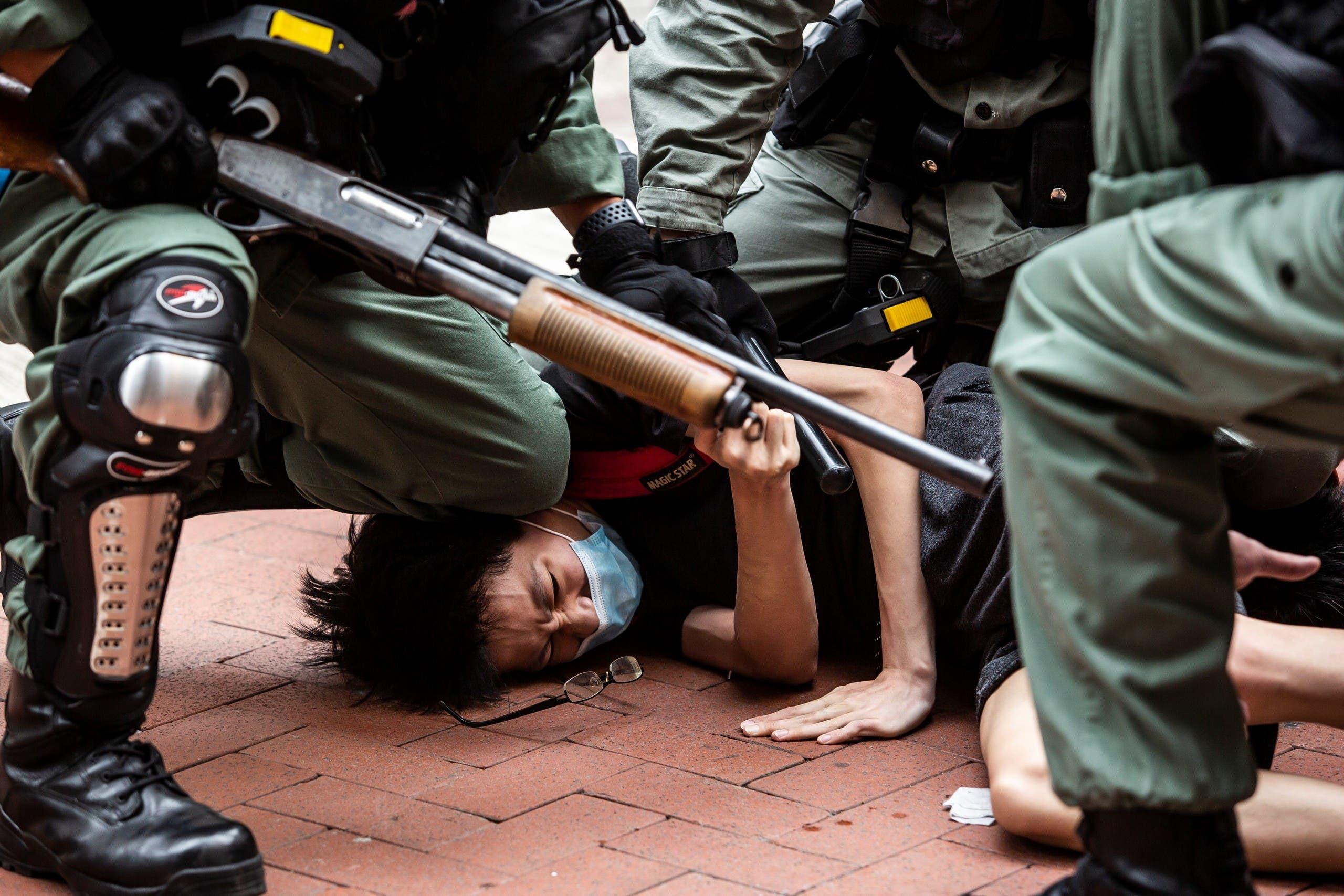 من مظاهرات هونغ كونغ (فرانس برس)
