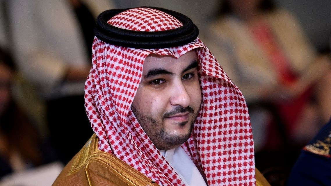 Saudi Arabia's Vice Minister of Defense Prince Khalid bin Salman waits for a meeting with US Secretary of Defense Mark Esper and others at the Pentagon August 29, 2019. (AFP)