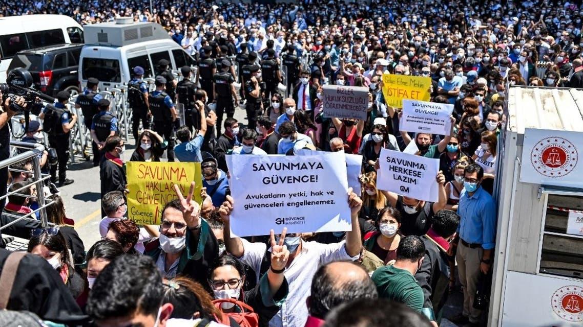 اعتصام المحامين في اسطنبول -0 فرانس برس