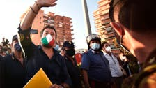 Angry crowd heckles Italy's far-right leader Matteo Salvini